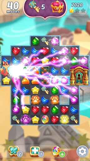 Genies & Gems - Jewel & Gem Matching Adventure screenshot 5
