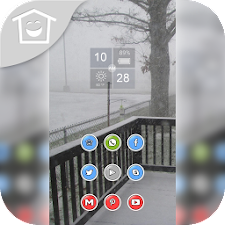 White winter snow theme