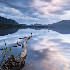 The Lough by Brens Photo's - Landscapes Mountains & Hills ( water, lough leanne, clouds, killarney, sunset, co kerry )