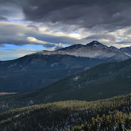 The Rockies by Wesley Nesbitt - Landscapes Mountains & Hills ( mountains, clouds, snowcaps )