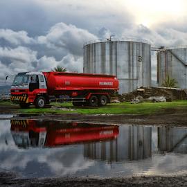 Tanker by Ferdinand Ludo - Transportation Other ( reflection, tanker, afternoon, truck, diesel fuel )