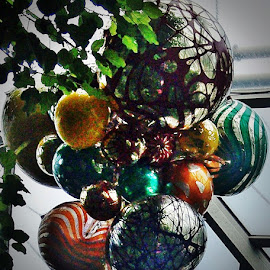 Ceiling Baubles by Sandy Stevens Krassinger - Artistic Objects Glass ( patterns, glass, baubles, artistic objects, blown glass,  )