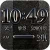 Black Digital Clock Widget