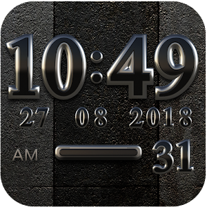 Cover art Black Digital Clock Widget
