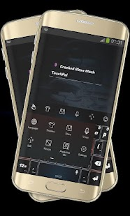 Cracked Glass Black TouchPal - screenshot