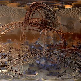 Missing Construction 1 by Rick Eskridge - Illustration Sci Fi & Fantasy ( fantasy, mb3d, fractal, construction, twisted brush )