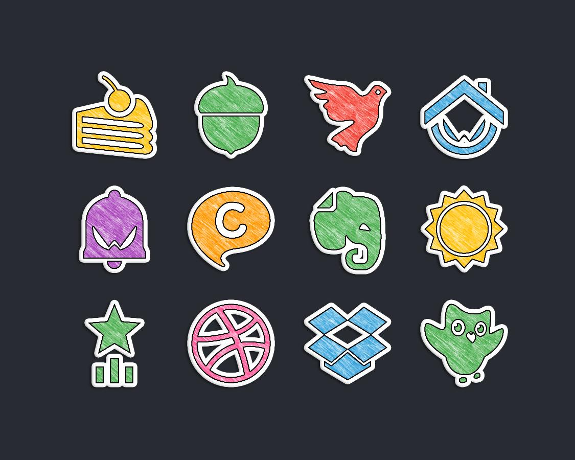 Doodle Stickers Icon Pack Screenshot 7