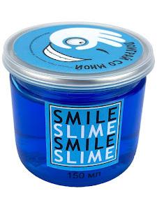 Слайм-лизун Синее стекло, 150 мл.