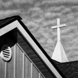 Cross  by Todd Reynolds - Black & White Buildings & Architecture