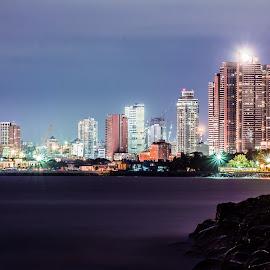 Manila at Night by Ram Domaoal - City,  Street & Park  Night ( cityscape, nightscape, city )