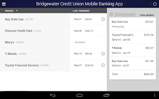 Screenshot of Bridgewater Credit Union