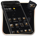 Free Luxury Golden 3D Black Tech APK for Windows 8
