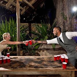 Beer Pong! by Andrew Morgan - Wedding Reception ( zanzibar, beer, wedding, travel, party )