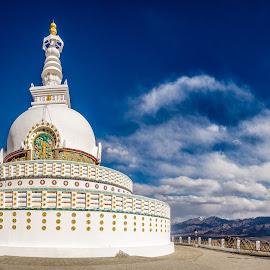 Shanti Stupa - Leh by Rohit Khurana - Buildings & Architecture Places of Worship ( leh, shanti, peace, india, ladakh, worship, stupa, buddha )