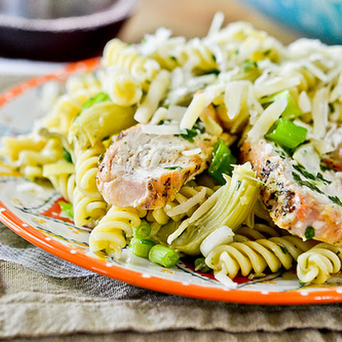 Grilled Chicken Pasta Salad with Artichoke Hearts
