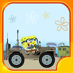 Speed Car Racing Sponge Icon