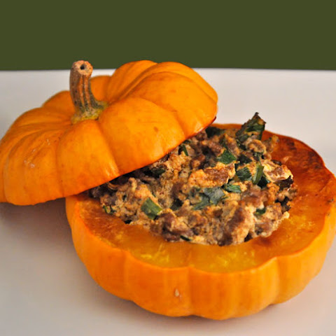 Baby Pumpkins Stuffed with Beef and Ricotta Cheese