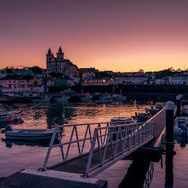 Azores Sunset by Marco Oliveira - City,  Street & Park  Night ( são mateus, terceira )