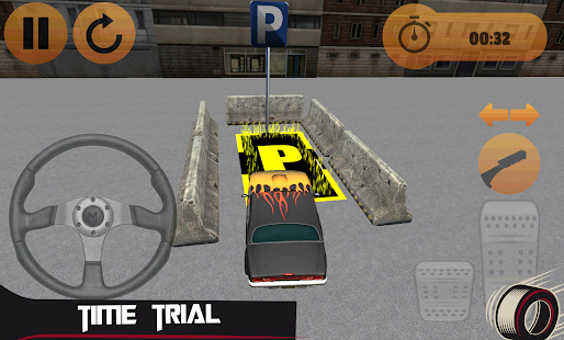 Fiery Car Parking Game - screenshot