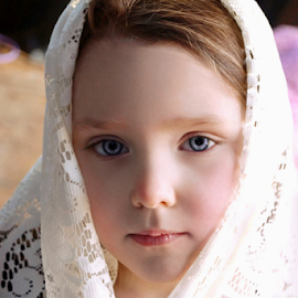 White Lace by Cheryl Korotky - Babies & Children Child Portraits