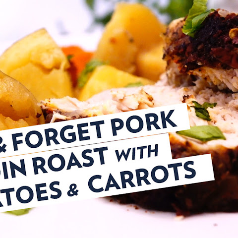 PORK LOIN ROAST with POTATOES & CARROTS