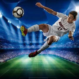 Champion Striker by Jim S - Sports & Fitness Soccer/Association football