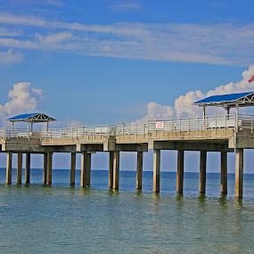 The Pier by Daryl Peck - Novices Only Landscapes ( water, sky, novice, blue, outdoor, pier, architecture, seascape, object, landscape )