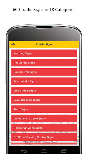 Traffic Signs 2016 UK - screenshot