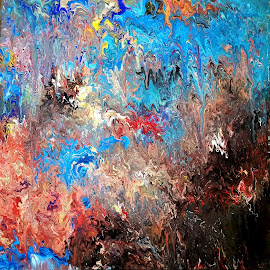COLOURS of COSMOS by Zoritza  Wejnfalk - Painting All Painting ( modern art, abstract art, cosmos, zoritzasart )