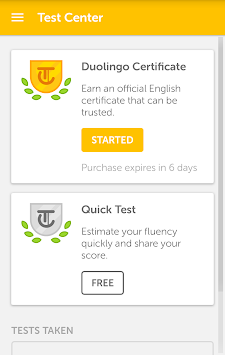Duolingo English Test APK screenshot thumbnail 1