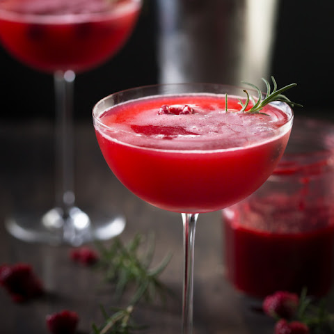 Rosemary Raspberry Vodka Fizz
