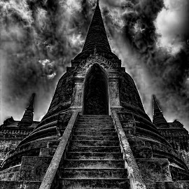 Temple by Lisa Coletto - Buildings & Architecture Decaying & Abandoned ( temple, ancient temple, buddhist, chedi,  )
