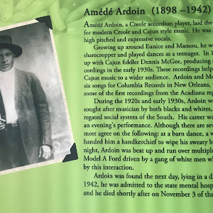 Amédé Ardoin, a Creole accordion player, laid the foundation for modern Creole and Cajun style music. He was known for his high pitched and expressive vocals. Growing up around Eunice and Mamou, he ...