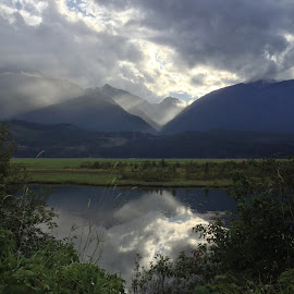Can you see the Heart?? by Corey Yeatman - Instagram & Mobile iPhone ( clouds, heart, canada, revelstoke, landscape, storm, bc, rain )