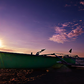 Parked by Jonathan Tanguilig - Landscapes Beaches ( beaches, sunsets, boats )