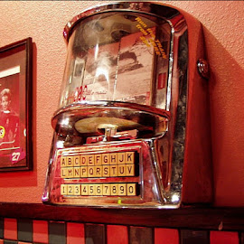 What do you want to hear? by Nancy Bowen - Novices Only Objects & Still Life ( retro, restaurant, jukebox, booth )