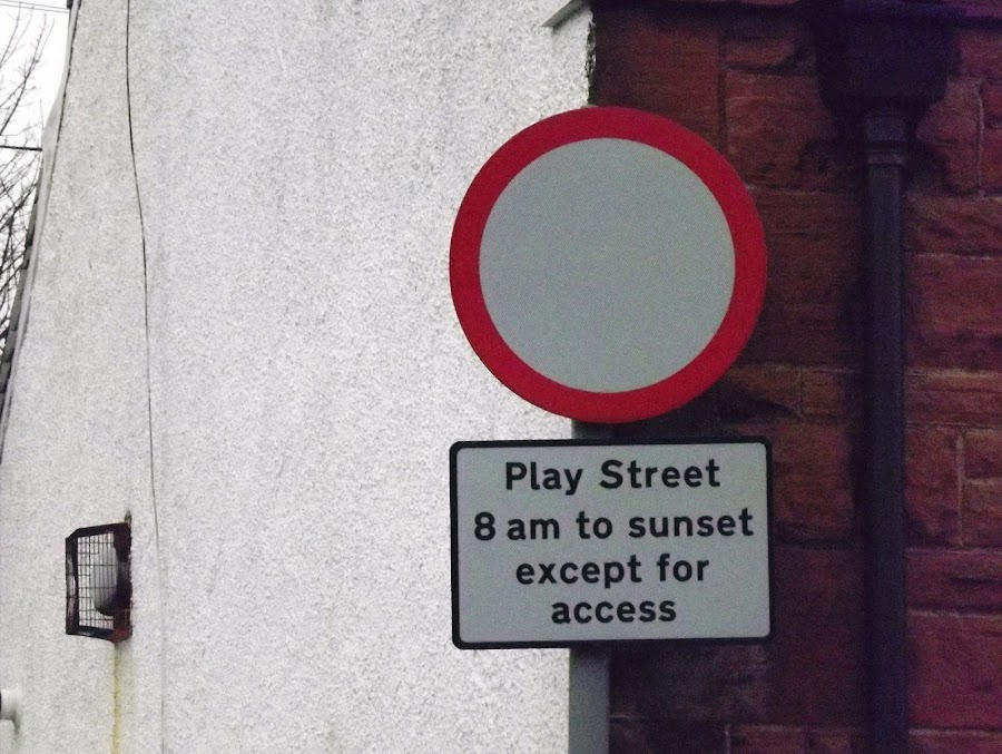 play street by Alan Reardon - Products & Objects Signs ( menstrie, signs, allandale, playstreet, fun )