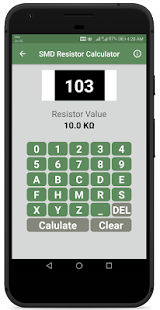 Resistor Color Code And SMD Code Calculator Screenshot