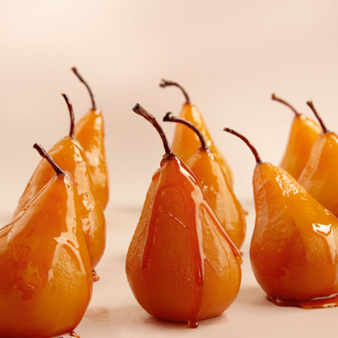 Bosc Pears Roasted in Caramel & Indian Spices