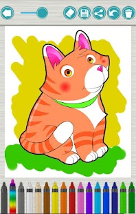Cats coloring pages kids paint - screenshot