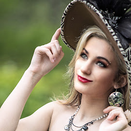 Tip the Hat by Sylvester Fourroux - People Portraits of Women