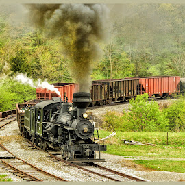 The Curve by James Eickman - Transportation Trains (  )