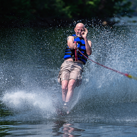 Water Skiing on Smith Lake, Alabama by Jeanine Akers - Sports & Fitness Watersports ( smith lake, sports, alabama, water skiing, man )