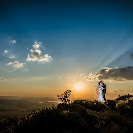 African Sunsets by Lood Goosen (LWG Photo) - Wedding Bride & Groom ( wedding photography, wedding photographers, wedding dress, sunsets, wedding, weddings, wedding day, sunset, wedding photographer, bride and groom, bride, groom, bride groom )