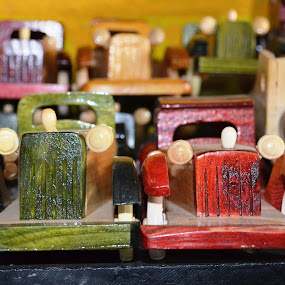 Wooden Cars by Diliban P - Artistic Objects Toys ( wooden, cars, toys, artistic, closeup )