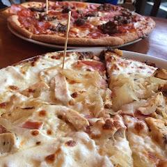 Mighty Meaty GF Pizza & Chicken Cordon Bleau pizza