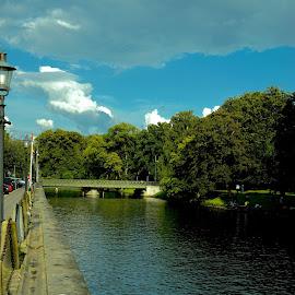 Gotenburg canal. by Alf Winnaess - City,  Street & Park  Neighborhoods