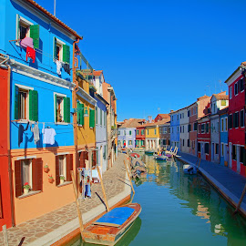 Burano by Nerijus Liulys - Buildings & Architecture Other Exteriors ( hdr, venice, burano, italy, canal, coloured houses )