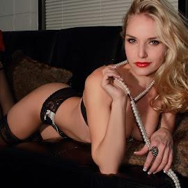 by Shiva Sharifi - Nudes & Boudoir Boudoir ( glamour, models, bombshell, blonde, model, lingerie, boudoir, modeling, ashley, liz )