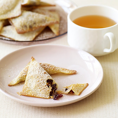 Baked Chocolate, Almond and Cranberry Wontons
